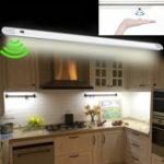 New DC12V 50CM 7W Hand Wave Sensor 60LED Cabinet Rigid Strip Light for Bar Kitchen Bathroom Home Decor