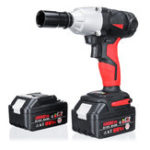 New 300N.M 10000mah Cordless Electric Wrench Driver Drill LED light Lithium Power Wrench 88V