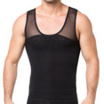 New Mens Elastic Compression Undershirt Mesh Thin Shapewear