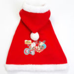 New Christmas Pet Dog Cloak Costume Warm Puppy Cloak Clothing for Winter Pet Dress