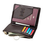 New Genuine Leather Multi-function Passport Bag Coin Purse For Men Women