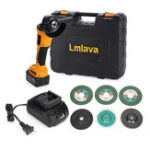 New 18V 12800mA Cordless Angle Grinder Angle Grinding Machine With 4000mAh Battery 100mm
