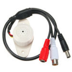 New Professional Sound Waterproof Microphone Mic Connector for Security CCTV Camera System