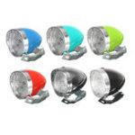 New Retro Vintage Bicycle Bike Front Head Light 3 LED Headlights Headlamp + Bracket