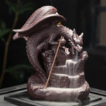 New Auspicious Dragon Purple Sand Smoke Backflow Incense Burner Creative Aromatherapy Censer Decorations