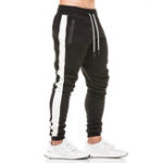 New Mens Cotton Drawstring Elastic Mid Waist Pants