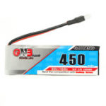 New 2PCS Gaoneng GNB 3.7V 450mAh 1S 80/160C Lipo Battery With White Plug