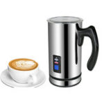 New BioloMix Stainless Steel Milk foam Machine Coffee Machine 220V Electric Milk Frother Foamer Milk Warmer Foam Latte Cappuccino Bubble Coffee Maker