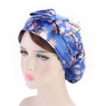 New Women Floral Bow Turban Cap Chemo Beanie Cap