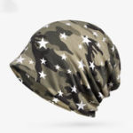 New Women Cotton Multi-purpose Camouflage Beanie Hat Scarf