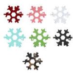 New 19 In 1 Multifunction EDC Snowflakes Screwdriver Mini Portable Multi-tool Screwdriver Bottle Opener