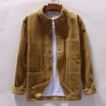 New Mens Corduroy Winter Loose 100% Cooton Coats