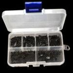 New Suleve™ M2CH3 240Pcs M2 Hex Socket Cap Head Screw Carbon Steel Bolt Nut Assortment