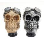 New Universal Car Skull Head Transmission Gear Shift Knob Shifter Lever