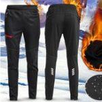 New Men Women Thermal Fleece Winter Racing Pants Sportswear Reflective Trousers Waterproof