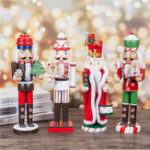 New Christmas Wooden Nutcracker Doll Soldier Vintage Handcraft Decoration Gifts Collection