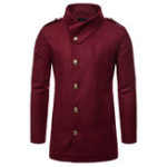 New Mens Mid Long Winter Coat Stylish Slim Fit Jacket