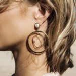 New Geometric Round Shape Drop Earring