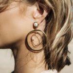 New Geometric Round Shape Drop Earring