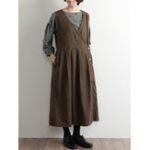 New Plus Size Vintage V-neck Sleeveless Front Button Women Dress