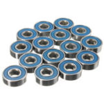 New 20pcs 608rs ABEC-9 Ball Bearing Carbon Steel Skateboard Wheel Bearings