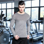 New Mens Super Elastic Breathable Skinny Tops