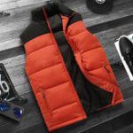 New Men Padded Sleeveless Jacket Winter Warm Windproof Down Vest