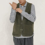 New Mens Double Side Wearable Pockets Designs Casual Vest