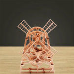 New Wood Trick Windmill Mechanical Model 3D Wooden Puzzles DIY Toy Assembly Gears Constructor Kits Gifts