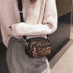 New Women Leopard Print Multi-pocket Crossbody Bag