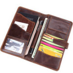 New Men Retro Style Vintage Genuine Leather Phone Bag Wallet