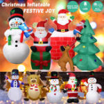 New 1.8M Christmas Inflatable POP-UP Santa Xmas Decoration Toys Outdoor Garden Lights