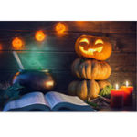 New 7x5FT Halloween Pumpkin Lamp Theme Photography Backdrop Studio Prop Background