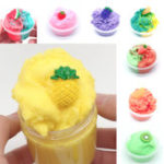 New 120ML Fruit Slime Brushed Crystal Cotton Clay Decompression DIY Gift Stress Reliever