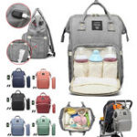 New Waterproof Baby Nappy Diapers Bags Tote Mummy Travel USB Port Backpack
