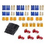 New 29Pcs URUAV T XT60 XT30 EC3 EC5 Male Female Plug Adapter Connector with 127Pcs Heat Shrink Tube Kit