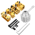 New Quick Change Post Holder Kit Set Boring Bar Turning Tool Holder For CNC Mini Lathe