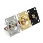 New Square Style Jack Plate Guitar Bass Jack 1/4 Output Input Jack Socket For Electric Guitar Accessorie
