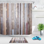 New 40X60cm Bathroom Shower Curtain Modern Rustic Wood Wall Waterproof Bathroom Liner Shower Curtain