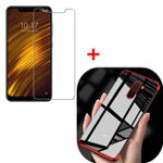 New Bakeey Soft Protective Case + Anti-explosion Tempered Glass Screen Protector for Xiaomi Pocophone F1