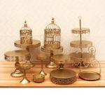 New 12Pcs Vintage Crystal Cake Holder Cupcake Stand Wedding Dessert Display Storage Party Decorations