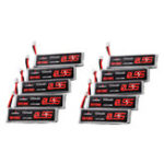 New 10Pcs URUAV 3.8V 550mAh 50/100C 1S HV 4.35V PH2.0 Lipo Battery for Emax Tinyhawk Kingkong/LDARC TINY