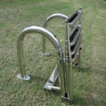 New Stainless Steel Swimming Pool 4 Step Ladder Dock Boat Ladder Decorative Hardware