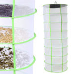 New Herb Plant Bud Drying Net 8 Layer Shelf Dryer Hanging Rack Fast Drying Storage Net