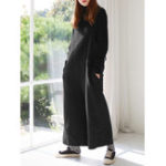 New Women Straps Wide Leg Loose Overalls Jumpsuit