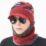 New Mens Outdoor Cycling Windproof Velvet Liner Hat Scarf Set