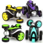 New 1PC 1/24 Radio Control Stunt Rc Car 360 Degree Rotation Tumbling Truck Random Color W/ O Battery