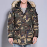 New Mens Camo Cotton Down Padded Military Style Winter Jacket