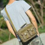 New Men New Canvas Tactical Camo Casual Crossbody Bag