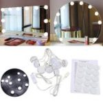 New USB Powered DC5V 10 Bulb Dimmable LED String Light Mirror White Makeup Lamp Ambient Decor